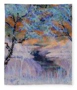 Birch Trees On The Ridge 2 Fleece Blanket