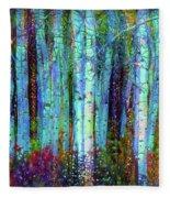 Birch Woods Fleece Blanket
