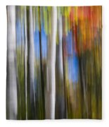 Birches In Autumn Forest Fleece Blanket
