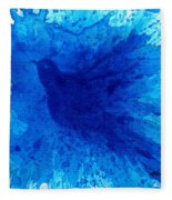 Bird Bath 2 Fleece Blanket