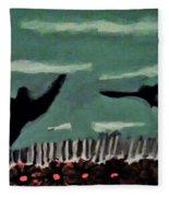 Bird Flock Fleece Blanket