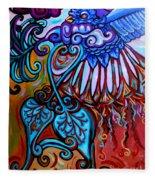 Bird Heart II Fleece Blanket