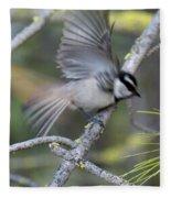 Bird In Action 2 Fleece Blanket