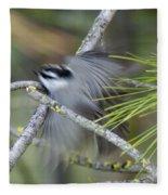 Bird In Action Fleece Blanket