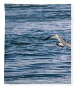 Bird In Flight Over Water Fleece Blanket
