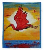 Bird Of Beauty, Loves Light In Flight Fleece Blanket