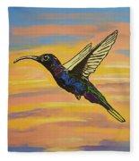 Bird Of Beauty, Superwoman Fleece Blanket