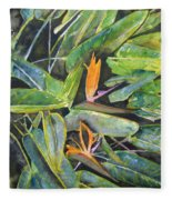 Bird Of Paradise 2 Fleece Blanket