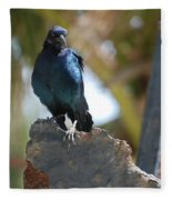 Bird On An Anchor Fleece Blanket