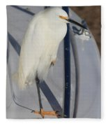 Bird On Boat Fleece Blanket