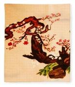 Bird On Branch Fleece Blanket