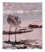 Bird On The Beach Fleece Blanket