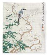 Bird On The Branch Fleece Blanket