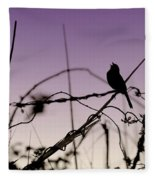 Bird Sings Fleece Blanket