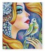 Bird Song Fleece Blanket