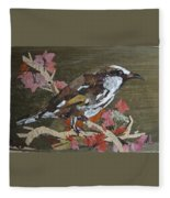 Bird White Eye Fleece Blanket