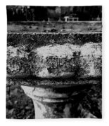 Birdbath In Black And White  Fleece Blanket