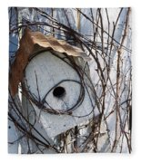 Birdhouse Brambles Fleece Blanket