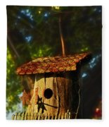 Birdhouse Fleece Blanket