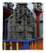 Birdhouses For Colorful Birds 4 Fleece Blanket