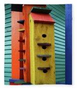 Birdhouses For Colorful Birds 6 Fleece Blanket