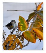 Birds And  Berries Fleece Blanket