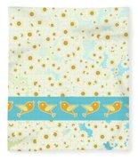 Birds And Daisies Fleece Blanket