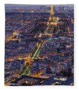 Bird's Eye On Paris 1 Fleece Blanket