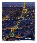 Bird's Eye On Paris 2 Fleece Blanket