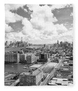 Bird's Eye View Hoboken Nj Fleece Blanket
