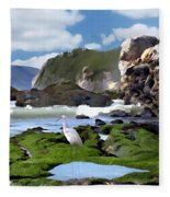 Bird's Eye View Fleece Blanket
