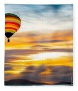 Birds Eye View Of Sunset Fleece Blanket