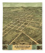 Bird's Eye View Of The City Of Huntsville, Madison County, Alabama 1871 Fleece Blanket
