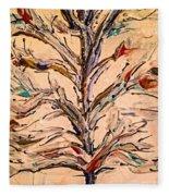 Birds In A Tree Fleece Blanket