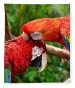 Birds In Love Fleece Blanket