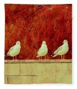Birds Of A Feather Fleece Blanket