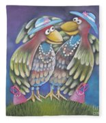 Birds Of A Feather Stick Together Fleece Blanket