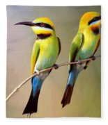 Birds On A Branch Fleece Blanket
