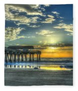 Birds On The Roof Sunrise Tybee Island Fleece Blanket