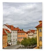 Birds Over Prague Fleece Blanket