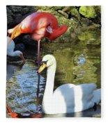 Birds Together Fleece Blanket