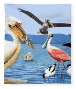 Birds With Strange Beaks Fleece Blanket