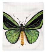 Birdwing Butterfly Fleece Blanket