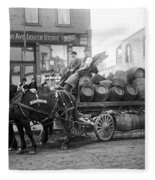 Birk Brothers Brewing Company C. 1895 Fleece Blanket