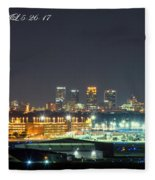 Birmingham Airport ,skyline Fleece Blanket