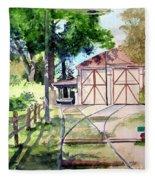 Birney Trolley Barn Fleece Blanket