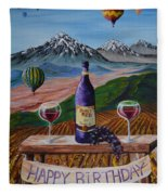 Birthday Balloons Fleece Blanket