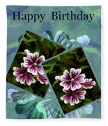 Birthday Card Fleece Blanket