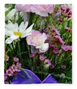 Birthday Flowers Fleece Blanket