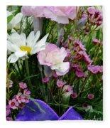 Birthday Flowers Fleece Blanket